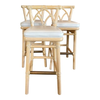 McGuire Bamboo Bar Stools - Set of 3