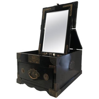 Chinese Cosmetic Chest Makeup Box With Mirror For Sale