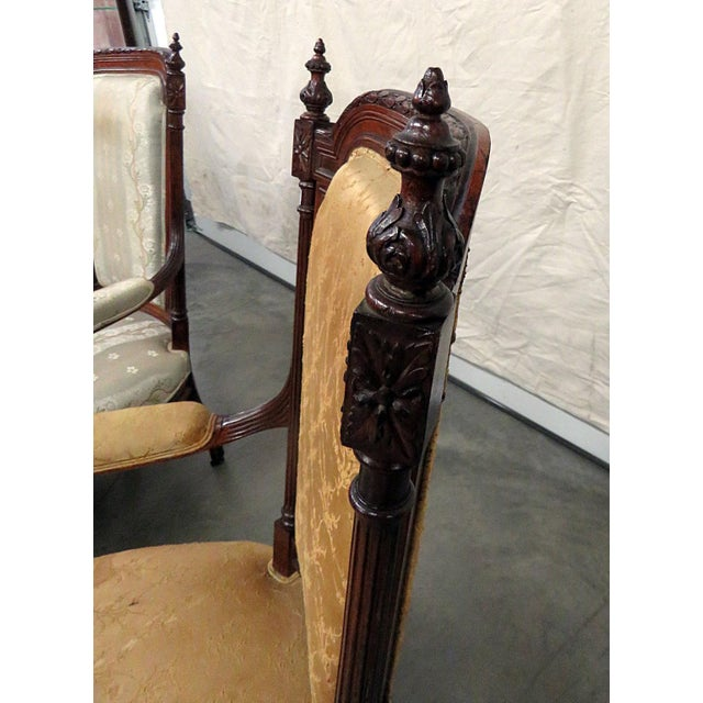 Early 20th Century Louis XVI Style Companion Armchairs - a Pair For Sale - Image 5 of 8