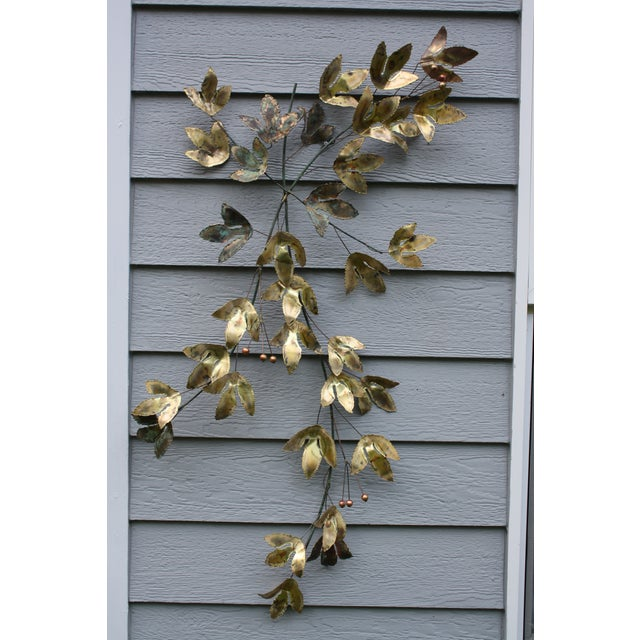 1969 Curtis Jere Mid Century Modern Metal Wall Sculpture Leafs, Signed For Sale - Image 13 of 13