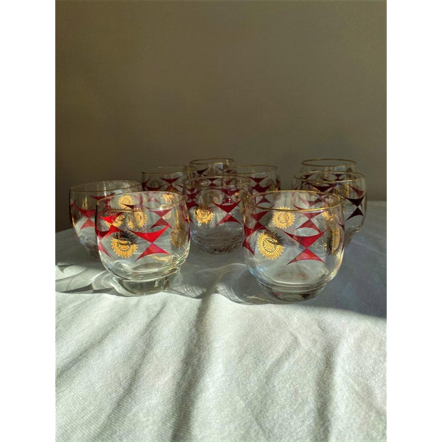 1960s Mid-Century Sasaki Roly Poly Tumbler Glasses - Set of 9 For Sale - Image 4 of 13