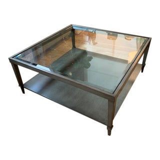 Fremarc Mercer Cocktail Table With Glass Top For Sale