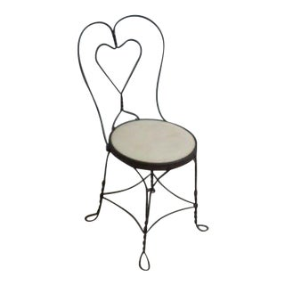 Antique Twist Iron Side Chair For Sale
