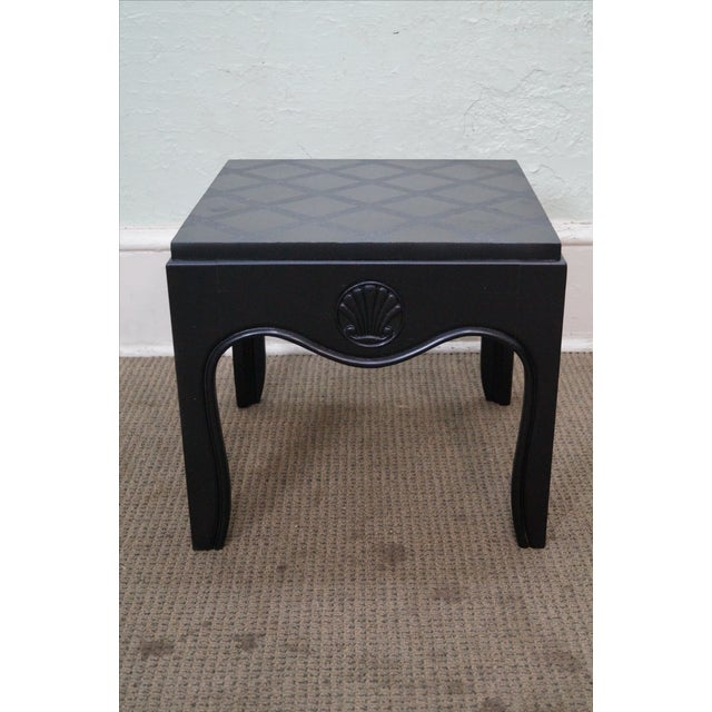 Mid-Century Modern Mid-Century Ebonized Black Slate Top Side Tables - A Pair For Sale - Image 3 of 10