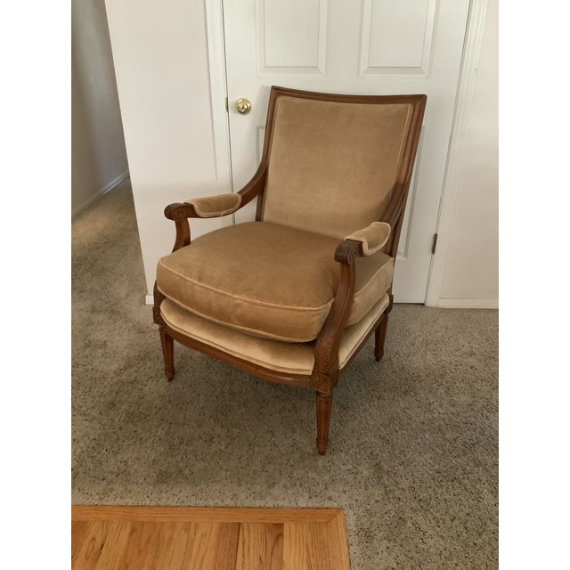 Gold Baker Gold Mohair Accent Bergere Chair For Sale - Image 8 of 10
