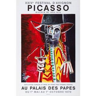 Pablo Picasso XXIV Festival d'Avignon Poster, 1970 For Sale