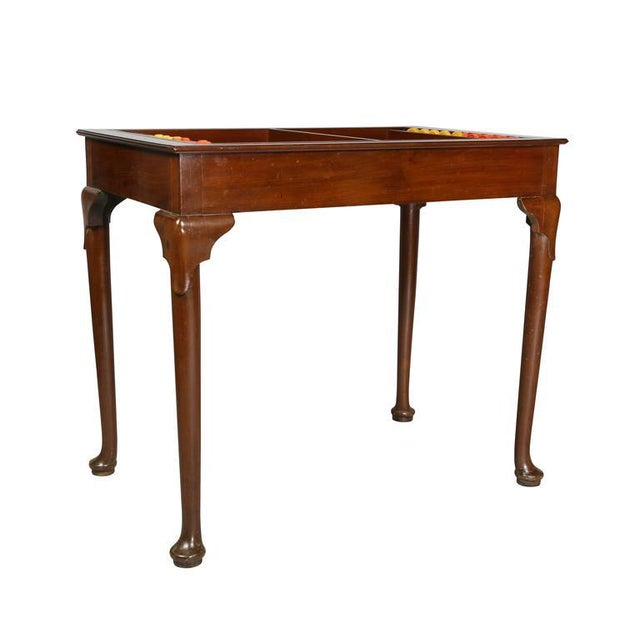 Queen Anne Style Mahogany Games Table For Sale - Image 10 of 10