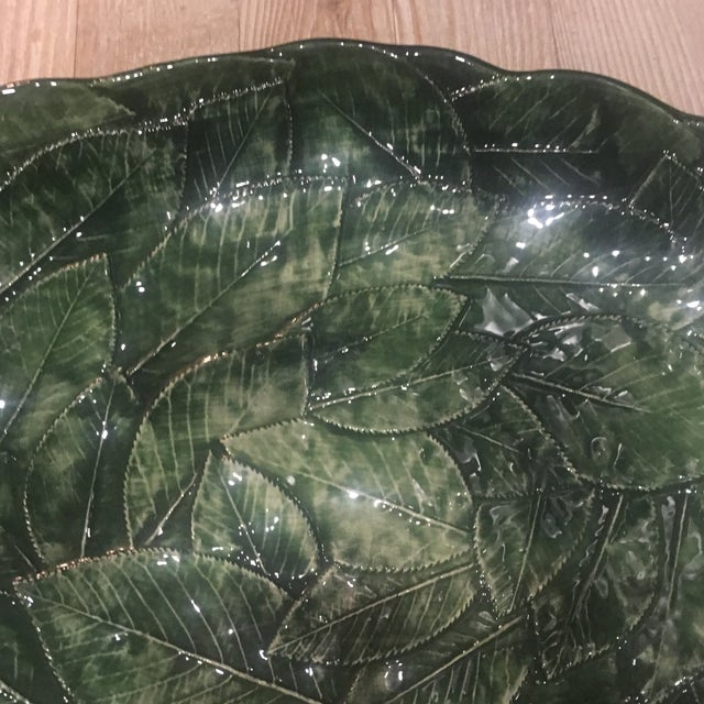Majolica Vintage Majolica Leaf Ware Platter For Sale - Image 4 of 9