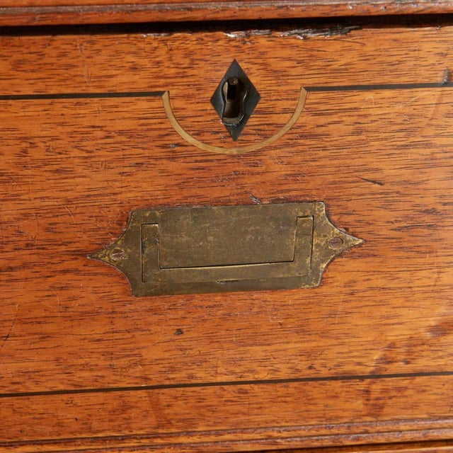 Campaign 19th Century Brass Inlaid Campaign Chest For Sale - Image 3 of 8