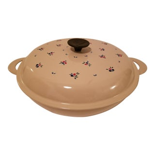 Vintage Le Creuset Fruit #30 Braiser Covered Skillet For Sale