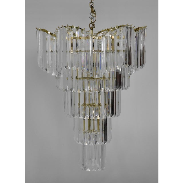 Murano Style Lucite Waterfall Chandelier For Sale - Image 4 of 9