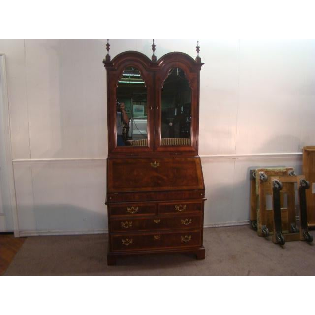 Traditional Henredon Aston Court Burl Wood Secretary Desk For Sale - Image 10 of 10