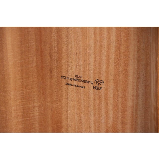 Mid Century Vejle Stole Mobelfabrik Danish Side Table For Sale - Image 10 of 11
