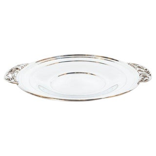 Mid-Century Modern Sterling Silver Tray With Stylized Grape and Vine Motifs For Sale