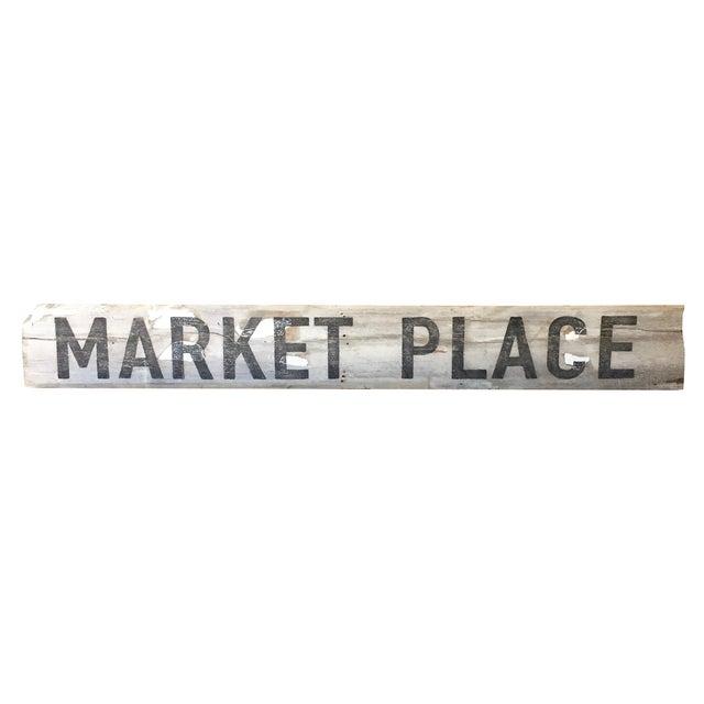 "Reclaimed Weathered Wood ""Marketplace"" Sign - Image 1 of 7"