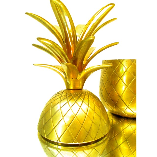 Vintage Brass Pineapple Jar/Candlestick Holder - Image 6 of 8