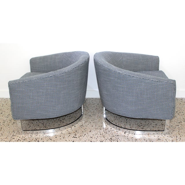 Mid-Century Modern Milo Baughman for Thayer Coggin Chairs - a Pair For Sale In West Palm - Image 6 of 13