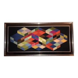 Victor Vasarely 1 9 6 8, Tridim K. Woven Art by Patrice Allart For Sale