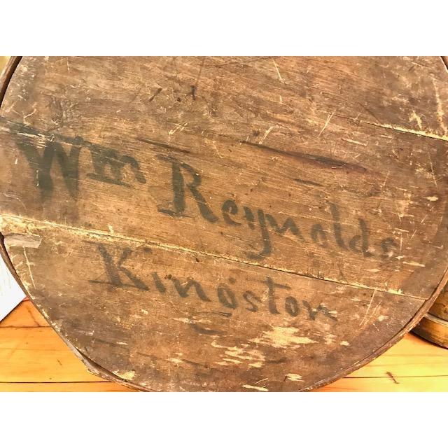 Americana Large Antique Wood Box - Historic Kingston Ny For Sale - Image 3 of 11