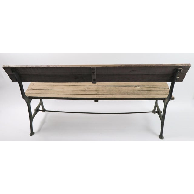 Metal Cast Iron and Wood Park Bench For Sale - Image 7 of 9