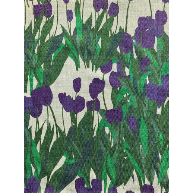 Textile In Bloom Fabric in Thistle Purple, 5 Yards For Sale - Image 7 of 7
