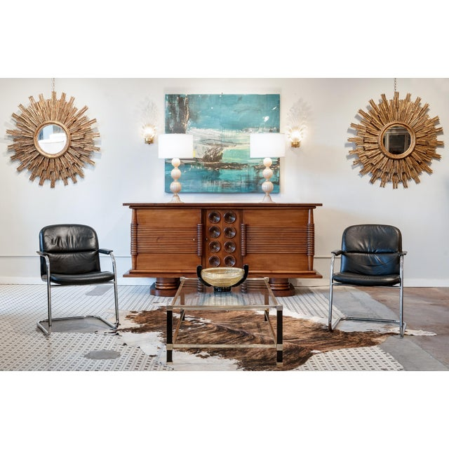 Mid-Century Leather & Chrome Armchairs - A Pair - Image 2 of 10