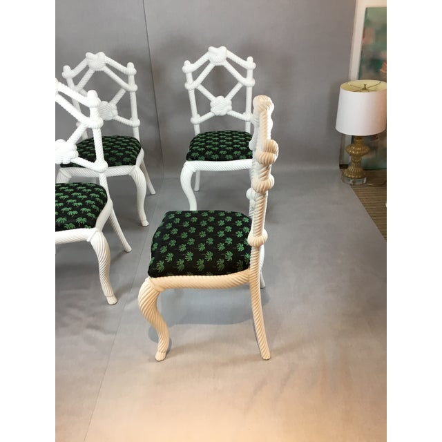 Designer Rope Chairs - Set of 4 For Sale - Image 4 of 5