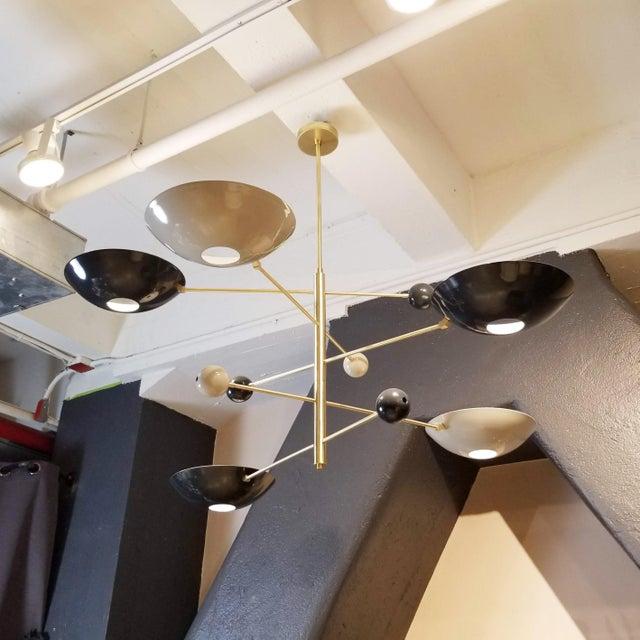 """Catalonia"" Chandelier in Enamel & Brass by Blueprint Lighting For Sale - Image 11 of 11"