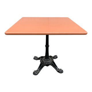 Enameled Lava Stone Table With Iron Base For Sale