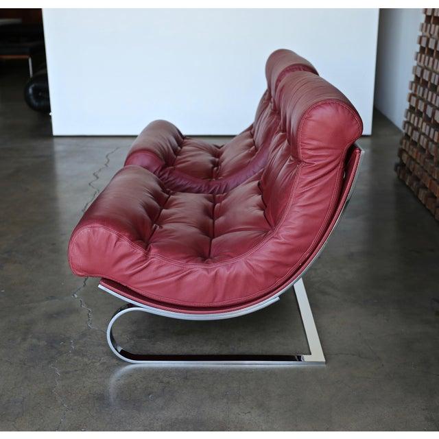 Cinova Renato Balestra Leather Lounge Chairs for Cinova Italy, Circa 1970 For Sale - Image 4 of 11