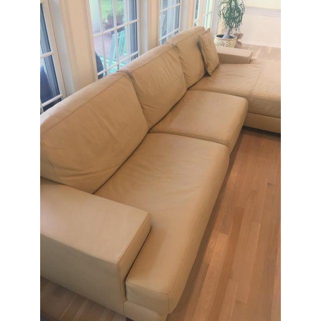 Ver Design Cream Leather Armonia Sofa - Image 4 of 7