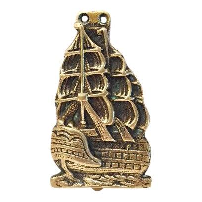 Brass Nautical Ship Door Knocker For Sale