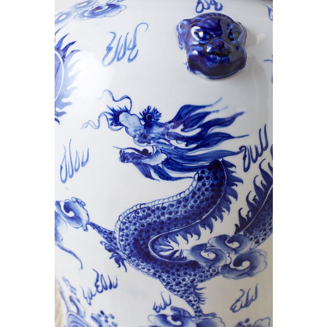 Oversized Chinese Blue and White Porcelain Ginger Jar For Sale - Image 10 of 13