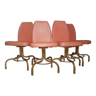 "Vintage Mid Century ""Chromodern"" Dinette Chair Set- 4 Pieces For Sale"