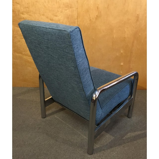 Milo Baughman for Thayer Coggin Chrome Reclining Lounge Chair For Sale In Portland, OR - Image 6 of 8