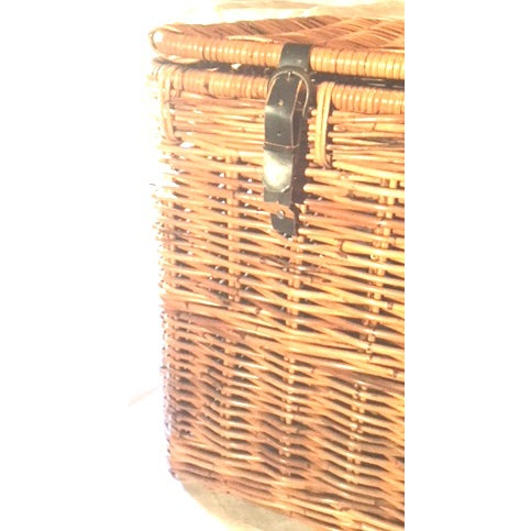 Americana 1980s Americana Wicker Blanket Trunk For Sale - Image 3 of 7
