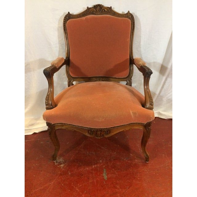 Louis XV Style Arm Chairs - a Pair For Sale - Image 6 of 11