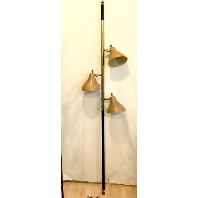 Mid-Century Modern Spring Loaded 3-Globe Floor Lamp For Sale - Image 6 of 6