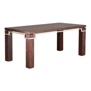 A Walnut Dining Table Designed by Pierre Cardin 1980s For Sale