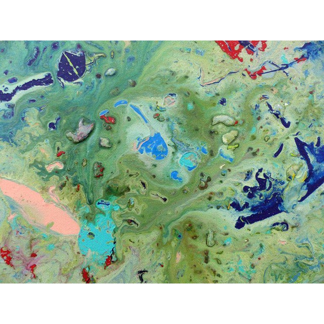 Early 21st Century Diptych Abstract Paintings by Brazilian Artist Sandro War - A Pair For Sale - Image 5 of 11