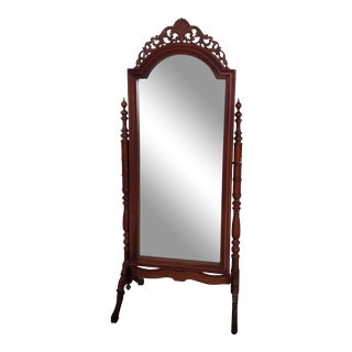 20th Century Vintage Wooden Cheval Mirror For Sale