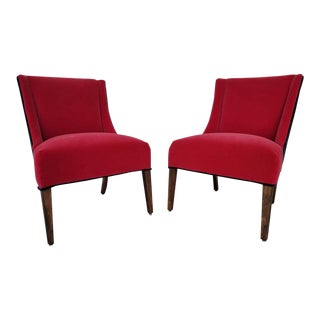Vintage Kroehler Mohair Side Chairs- A Pair For Sale