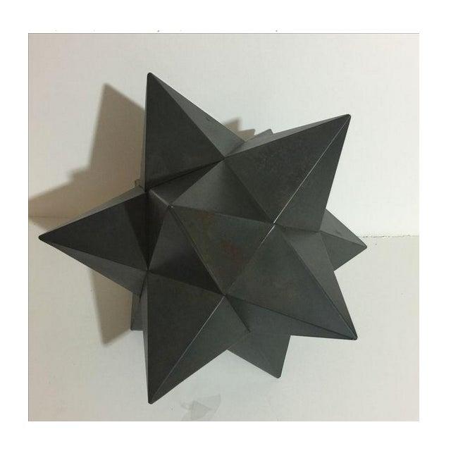 Modern Metal Star Sculpture - Image 3 of 3