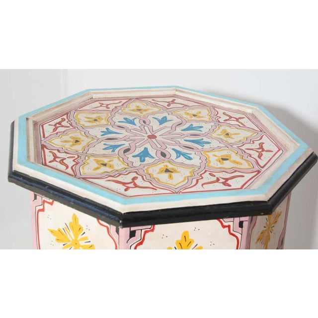 Moroccan Hand Painted Side Tables - a Pair For Sale - Image 10 of 13