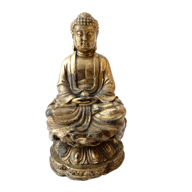 Brass Meditating Serenity Calming Buddha - Image 1 of 7