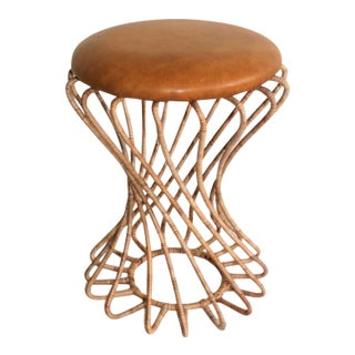 Modern Dundun Cane Stool For Sale