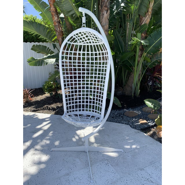 Vintage Russell Woodard Hanging Birdcage Swing For Sale - Image 13 of 13