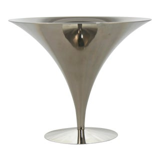 Silver Trumpet Centerpiece Pedestal Bowl For Sale