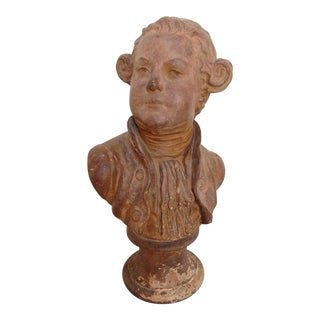Antique Terracotta Statue Bust For Sale