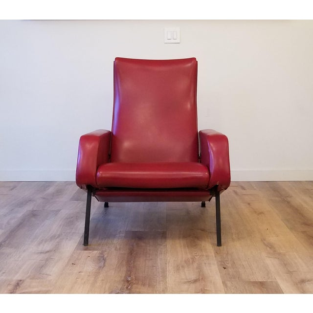 """Pierre Guariche Vintage Pierre Guariche """"Trelax"""" Reclining Lounge Chair For Sale - Image 4 of 12"""